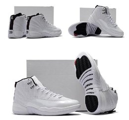 Wholesale Men Low Rise Leather - Big Discount Retro Air 12 XII Rising Sun White Mans 12s Basketball Shoes AAA High Quality Wholesale Size USA 8 13 Drop Shipping