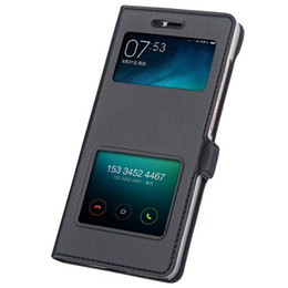 Wholesale Leather Flip Xiaomi Red Rice - Wholesale- Xiaomi Redmi 3S Case Leather Flip Cover Luxury Capa Coque Xiao Mi Red Rice 3 Pro Double Window Couro Fundas 3 S Phone Bag Cases