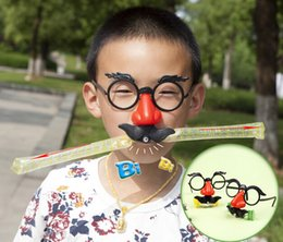 Wholesale Party Supplies Clown - Birthday party supplies wedding Clown beard blowing dragon glasses Jokes Funny Toys