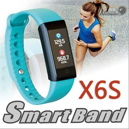 Wholesale Monitor Dynamics - X6S Smart Bracelet Band Dynamic Heart Rate Monitor Colorful LED Screen Smartwatch Health Sport Activity Tracker Call Alerts Wristband