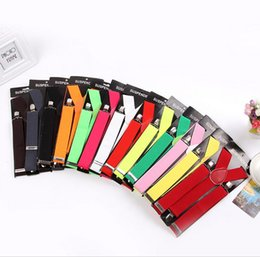Wholesale Candy Suspenders - 1200pcs High Quality Candy Color Unisex Adjustable Pants Y-back Suspender Brace Elastic Clip-on Belt Adjustable Braces Suspenders