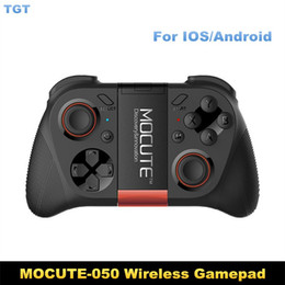 Wholesale Ios Box Tv - New arrival MOCUTE-050 Gamepad Bluetooth Game Gaming Joystick Controller Shutter Remote Control for IOS&Andriod Smart Phone TV BOX PC