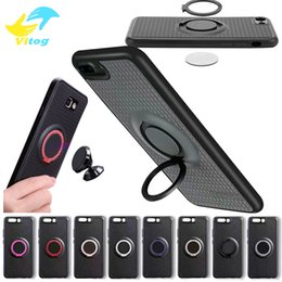 Wholesale Back Cover Magnetic - 2017 TPU case with phone holder Metal Ring Soft Case with car Magnetic Driving phone holder back cover for iphone samsung S8
