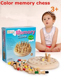 Wholesale Baby Exercise - wholesale 2017 NEWEST HOT 6 Color Children's Puzzle Wooden Memory Chess Toys Wooden Toys Exercise Baby Memory Leisure Goods