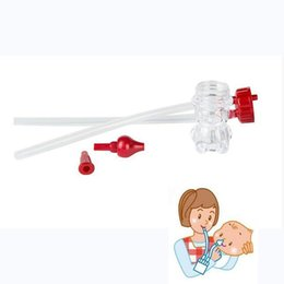 Wholesale Plastic Safety Noses - New Born Baby Safety Plastic Nose Cleaner Vacuum Suction anti-backwash Nasal Aspirator Free Shipping Good quality