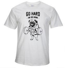 Wholesale Pug Print T Shirt - Cotton casual pug life mens t shirts top quality fashion short sleeve men tshirt men's tee shirts tops men T-shirt 2017 T01