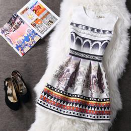 Wholesale House Fancy Dress - house printed a line dress  aini fashion printed princess dress flower dress  fancy women fashion dress