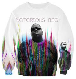 Wholesale Biggie Shirt Women - Wholesale- The Notorious B.I.G. Biggie Smalls Tupac 2015 Hot Fashion Women Men 2Pac Sweatshirt Couples sweats Unisex 3D Tops shirt