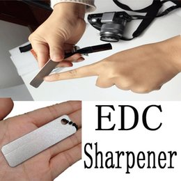Wholesale Mills Diamonds - Camping Hiking Gear EDC Pocket Sharpener Diamond Stone Keychain For Knife Fish Hook Finger Nail Stone Mill Tool B111Q