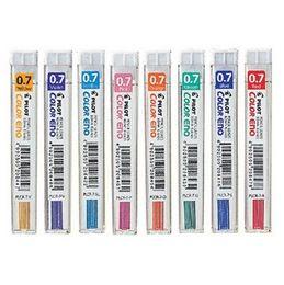 Wholesale Mechanical Pencil Lead Refills - Wholesale-3pcs(tubes) lot premium 0.7mm mechanical pencil color leads high quality multicolor pencil refills for drawing Pilot plcr-7