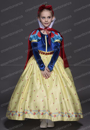 Wholesale Snow White Dresses For Children - New High quality Kids princess sofia dress for baby girls snow White Cosplay Costume children Carnival party tutu dresses