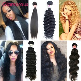 Wholesale Cheap Brazilian Piece Mix - Glamorous Cheap Brazilian Hair Weaves Straight Natural Wave Deep Wave Curly Brazilian Human Hair Bundles 1 Piece Virgin Human Hair Extension
