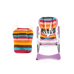 Wholesale Rainbow Car Mats - Wholesale- Baby Infant Stroller Seat Pushchair Cushion Cotton Mat Rainbow Color Soft Thick Pram Cushion Chair BB Car Seat Cushion