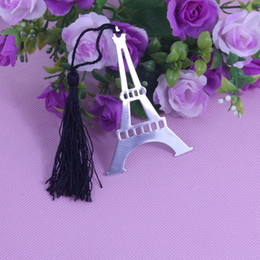Wholesale Personalized Bookmarks Wedding Favors - Wholesale-50PCS Eiffel Tower Bookmarks party supplies baby shower decorations wedding party favors personalized wedding favors and gifts
