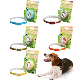 Wholesale Mosquito Collars - pest control collars dogs cats plant essential oil mosquito flea andtick prevention puppy necklace cat collar large dog collar pet suppliers