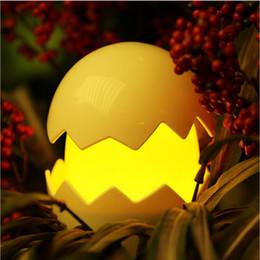 décorations de mariage de citrouilles blanches Promotion Veilleuse LED Lampe Rechargeable LED Rougeoyante Oeuf Illuminé Veilleuse pour Bars de Clubs De Noël Lumière W1130