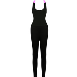 Wholesale Women S Jumpsuits Clothing - Wholesale- Sexy Women Fitness Leggings Pants Jumpsuit Clothes