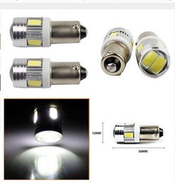 Wholesale Automotive White Led Bulbs - T4W 5730 6SMD 10SMD BA9S Side Tail Light Projector LED Car Bulb Lamp Interior Led reading light t4W automotive Interior Lamp