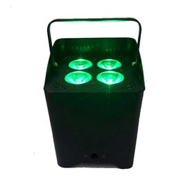 Wholesale Led Rechargeable Dj - Smart DJ 4 x 18w RGBWA + UV 6in1 Wireless LED Uplighter Rechargeable Battery Powered Wireless LED Wedding Uplight
