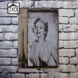 Wholesale Marilyn Monroe Art Posters - Marilyn Monroe Vintage Tin Signs Bar Pub Cafe Shop Gallery Lounge Room Home Wall Decor Retro Tin Plaques Metal Art Poster