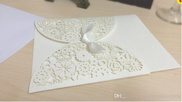 Wholesale Cheap Printable Wedding Invitations - 2016 Cheap Gold Wedding Invitations Vintage Hollow Lace Laser Cut Printable Wedding Cards Blank Card Free Shipping Wedding Favors new design
