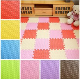 Wholesale Eva Play Mats - HOT Baby Mat EVA Foam Interlocking Exercise Gym Floor Play Mats Protective Tile Flooring Carpets 30X30 cm JC232