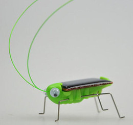 Wholesale Power Racer - Solar Power Robot Insect Bug Locust Grasshopper Toy Solar Power Mini Toy Car Moving Racer Teaching Gadget Solar Power toys KKA1597