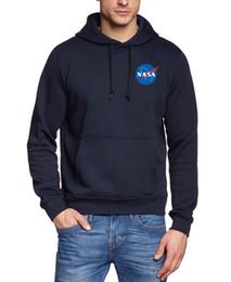 Wholesale Harajuku Sweatshirts - Wholesale- NASA hipster fitness hoodies Men The Martian Matt Damon sweatshirt IMPORT SPACE brand tracksuits 2017 harajuku fleece pullovers