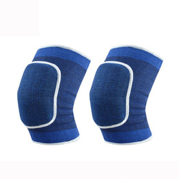 Wholesale Volleyball Knee Protectors - Wholesale- New HOT!! Kneepad Football Volleyball Extreme Sports Knee Pads Eblow Brace Support Lap Protect Cycling Knee Protector