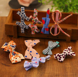 Wholesale Clip Bangs China - High quality The new cloth hairpin clip folder bangs hairpin bow hair ornaments head ornaments FJ160 mix order 60 pieces a lot