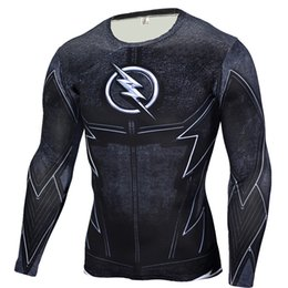 Wholesale Brown Panther - Wholesale- The Flash Black Panther T Shirt Men 3D Printed T-shirts Fitness Compression Shirt Crossfit Long Sleeve Slim Fit Top Tees Shirt