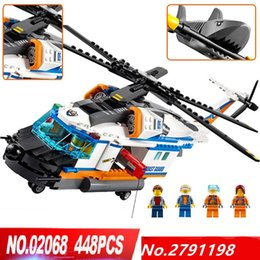 Wholesale Helicopters Rescue - LOLTOY Lepin 02068 City Heavy Rescue Helicopter Set Building Blocks Bricks Toys
