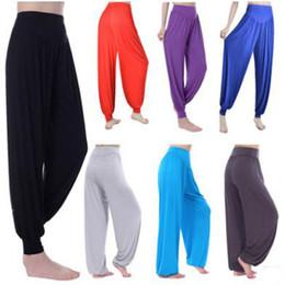 Wholesale Belly Dance Dancing Pants - 2017 Fashion Women Harem Yoga modal solid Comfy Long Pants Belly Dance pants Boho Wide Trousers Good Quanlity