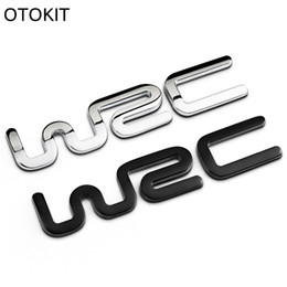 Wholesale Volkswagen Golf White - Alloy WRC 3D Metal Auto Car Badge Emblem Sticker for Toyota Yaris Ford Fiat Citroen Audi SUZUKI Volkswagen VW Golf Cruze