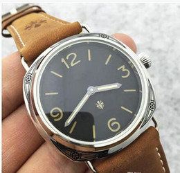 Wholesale Digital Leather Watch - Promotion Limited edition watch PAM00672 Top Brand Luxury Watch Men Fashion Wristwatches Mechanical Hand-Winding Watch Mens Natural Leather