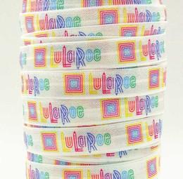 Wholesale Wholesale Webbing Rolls - wholesale OEM ribbon 16mm 5 8inch 170216001 cartoon printed folded over elastic Webbing 10yds roll FOE free shipping for hair ties