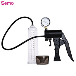 Wholesale Enlarge Penis - Semo Hand-drive Penis Enlarge Pump Manual Operation Vacuum Adult Product for Men Sex Product Sex Toy Exercise Adult Product for Men +B