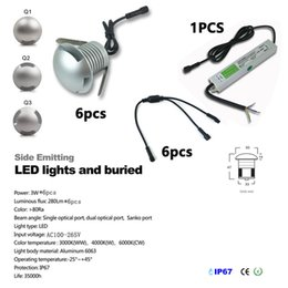 Wholesale 12v White Led Driver - 6pcs set CREE Led Floor Decking Lights with CE IP67 driver 1W 3W outdoor recessed lighting IP67 Waterproof garden light led Spot encastrable