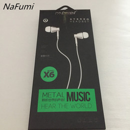 Wholesale Name Brand Earrings - Free shipping nafumi earrings wheat metal bass headphones ordinary cell phone full name K song magic sound phone earplugs