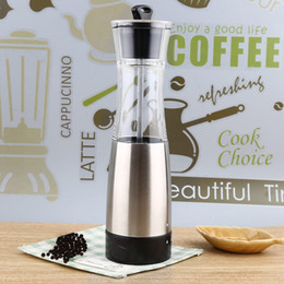 Wholesale Electric Car Tools - Electric Stainless Steel Salt Pepper Seasoning Grinder Cooking Tools Pepper Mill Grinder Portable Kitchen Mill Muller Tool +B