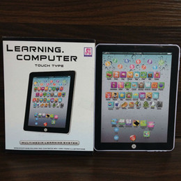 Wholesale Touch Screen Laptop Tablets - Newest Touch Screen Y-Pad English Learning Laptop Computer Game Music Phone Learning Machine Kids Educational Tablet Toy DHL shipping E1910