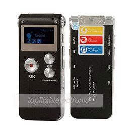 Wholesale Portable Screen Recorder - Wholesale-Portable LCD Screen 8GB Digital Voice Recorder Telephone Audio Recorder MP3 Player Dictaphone 609