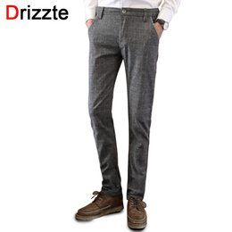 Wholesale Chino Trousers - Wholesale- Drizzte Mens Casual Dress Stretch Sanded Chino Pants Trousers Black Blue Grey 28 29 30 31 32 33 34 36 38