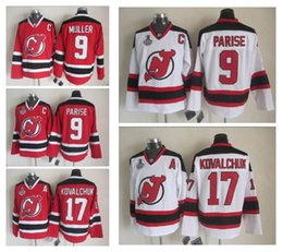 Wholesale Kovalchuk Jersey - New Jersey Devils #9 Taylor Hall 17 Ilya Kovalchuk Hockey Jersey Men Hockey Jerseys Discount White Red Authentic Stitched Jerseys 2017 Men