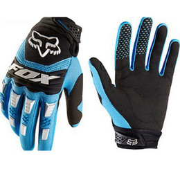 Wholesale Mountain Bike Hot - Hot 5Colors Fox Cycling Motorcycle Racing Gloves Autumn Winter Full Finger Mountain MTB Road Bike Bicycle Anti-slip Riding Ciclismo