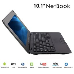 Wholesale Dual Core Laptop Inch - New 10.1 inch Netbook Laptop VIA8880 Dual-Core 1.5GHZ 1G RAM 8GB ROM Android 4.4.2 Wifi 10pcs lot Free DHL