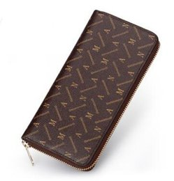 Wholesale Checked For Women - New Vintage Wallets Fine Bifold Brown Black Check PU Leather Credit Card Cool tri fold Wallet for men  woman single zipper wallet