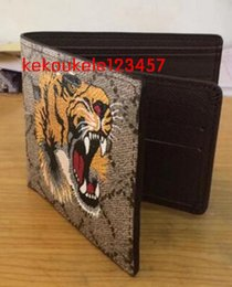 Wholesale Hot sale brand men short Wallet classic fashion male patchwork purse with coin pocket card holder with gift box