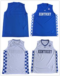Wholesale Royal Colleges - Personalized 2017 Kentucky Wildcats Men College Basketball Jerseys Stitched Royal blue & White Size S-3XL Custom Any Name Any Number Jersey