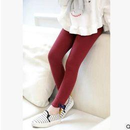 Wholesale Little Girl Leggings Wholesale - Girls cotton leggings fashion children little bowsnot leggings Autumn kids all-match tights pants 2017 new Girls bottoms G0621